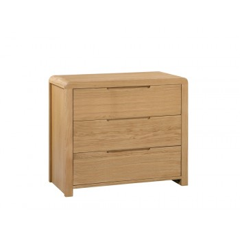 Curve 3 Drawer Chest {Assembled}