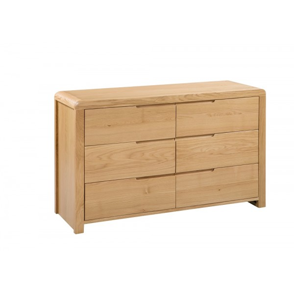 Curve 6 Drawer Chest {Assembled}
