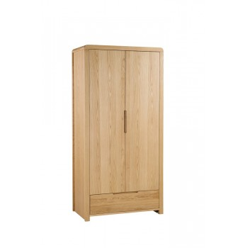 Curve 2 Door + 1 Drawer Wardrobe