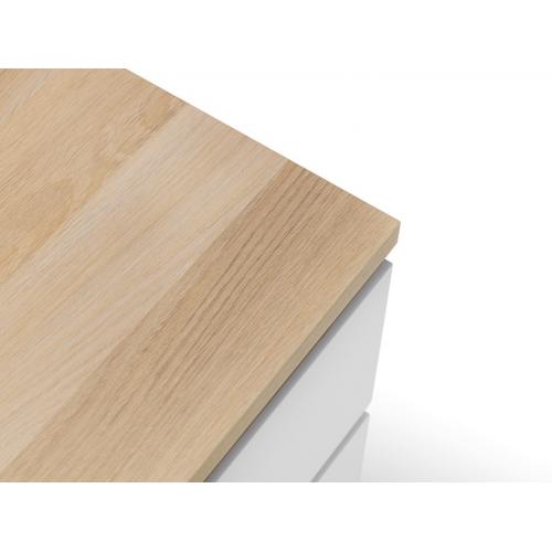 Jupiter Oak & White Bedside