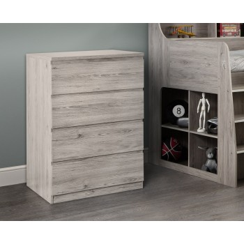 Jupiter Grey-Oak 4 Drawer Chest