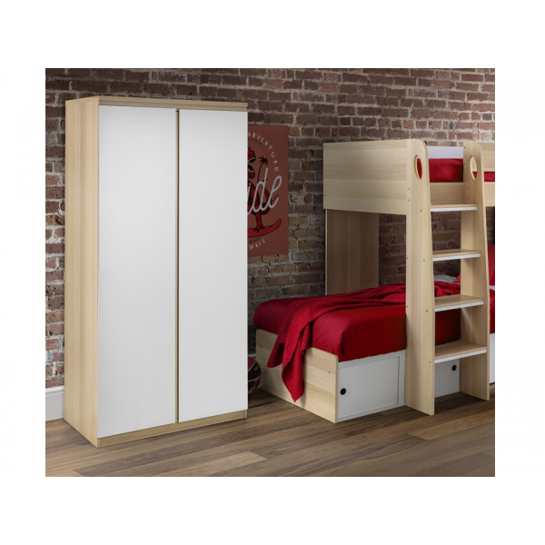 Jupiter Oak & White Wardrobe