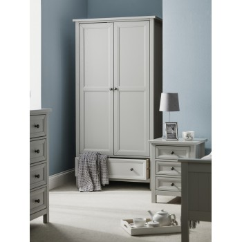 Maine Dove Grey 2 Door Wardrobe