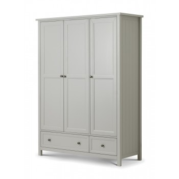 Maine Dove Grey 3 Door Wardrobe
