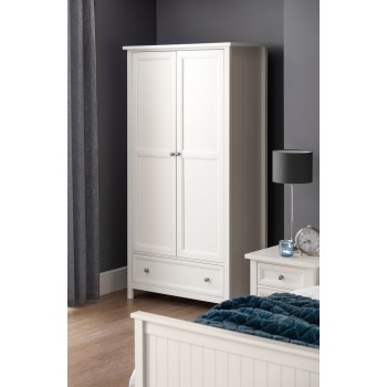 Maine Surf White 2 Door Wardrobe
