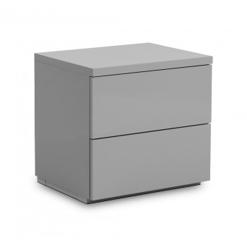 Monaco Grey High Gloss Bedside