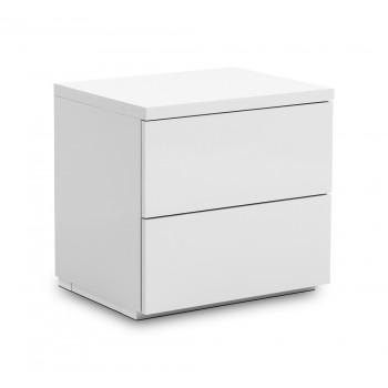 Monaco White High Gloss Bedside