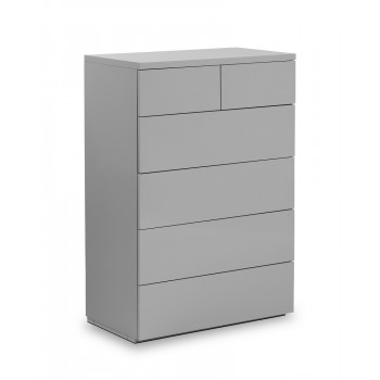 Monaco Grey High Gloss 4+2 Drawer Chest