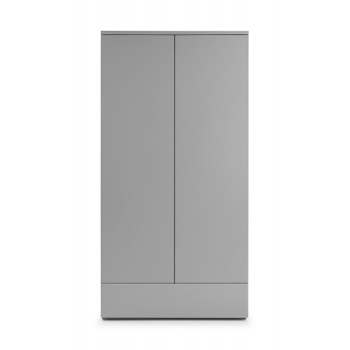 Monaco Grey High Gloss 2 Door Wardrobe