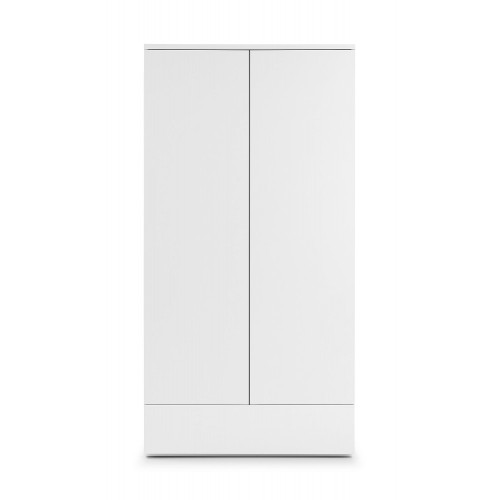 Monaco White High Gloss 2 Door Wardrobe