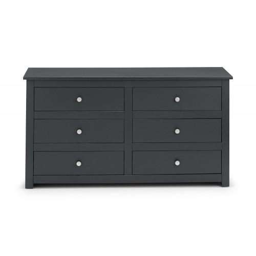 Radley Dark-Grey 6 Drawer Chest