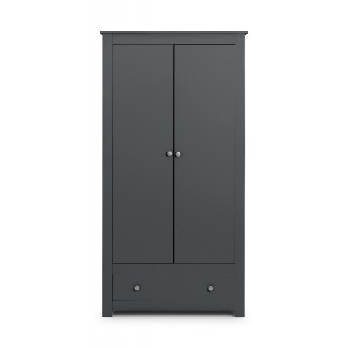 Radley Dark-Grey 2 Door Combination Wardrobe
