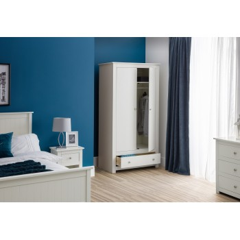 Radley Surf-White 2 Door Combination Wardrobe