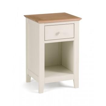 Salerno Ivory + Oak Bedside