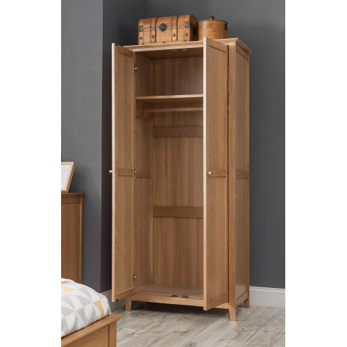 Salerno Oak 2 Door Wardrobe