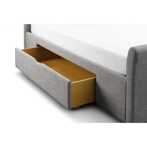 Capri Grey Velvet Bed