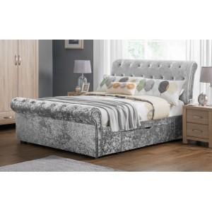 Verona Silver Crush 2 Drawer Bed