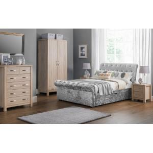 Verona Silver Crush Bed