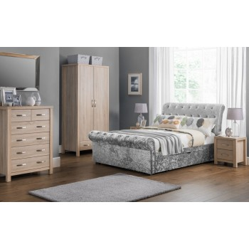 Verona Silver Crush Bed