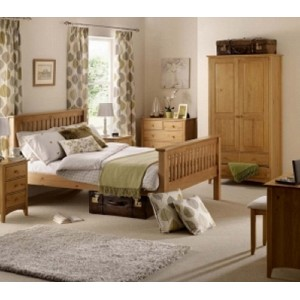 Barcelona Pine High End Bed