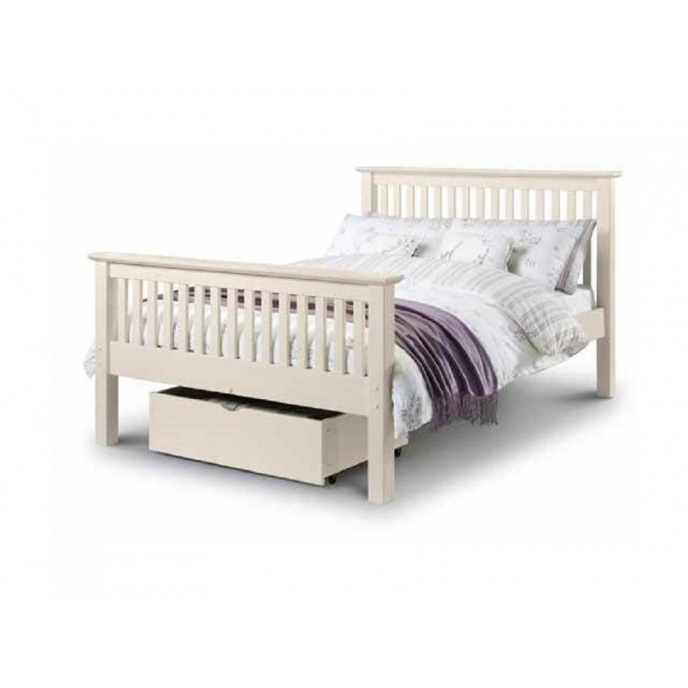 Barcelona High End Stone White Bed