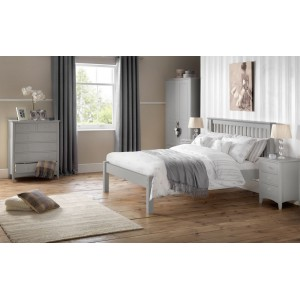Barcelona Dove Grey Low End Bed