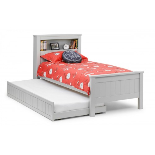 Maine Dove Grey Bookcase Bed