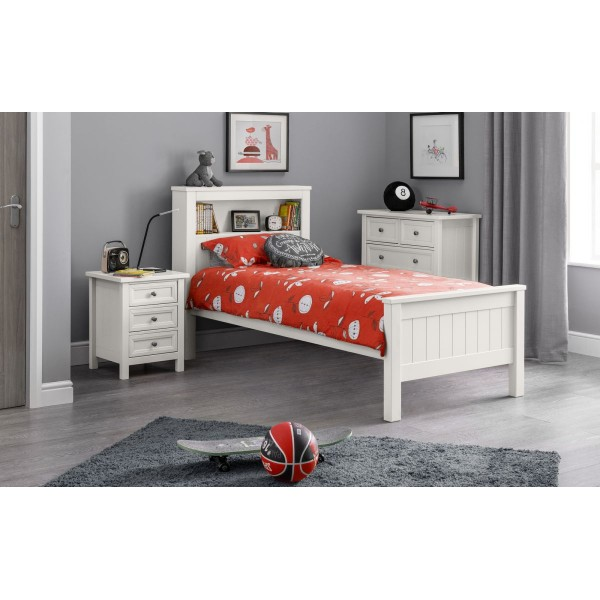 Maine Surf White Bookcase Bed