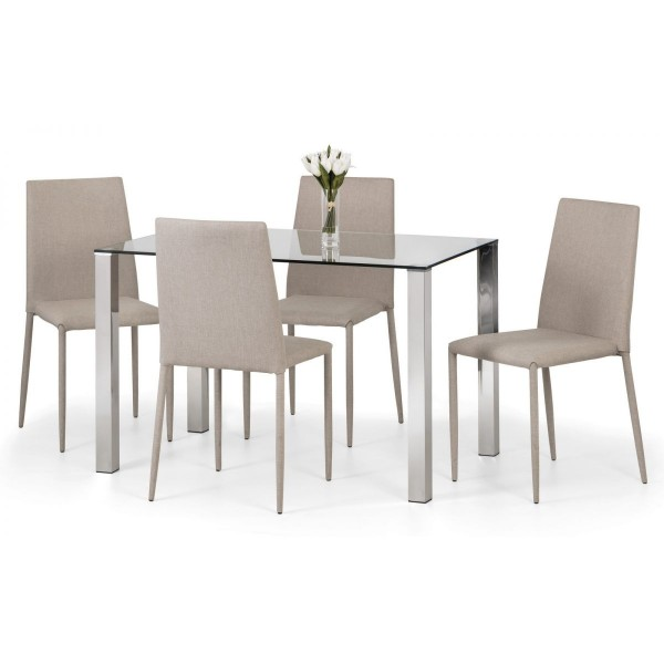 Enzo Dining Set with Sand Jazz Chairs {Table + 4}   *Out of Stock - Back Soon*