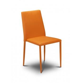 Jazz Orange Stacking Chair (Assembled)