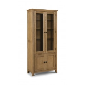 Astoria Oak Glazed Display Cabinet (Assembled) *Out of Stock - Back Soon*