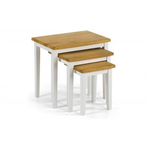 Cleo Oak & White Table Nest*Out of Stock - Back Soon*