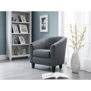 Hugo Slate Grey Tub Chair