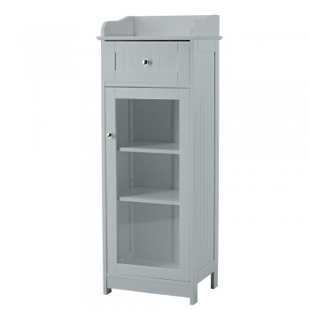 Alaska Grey Glass Cabinet