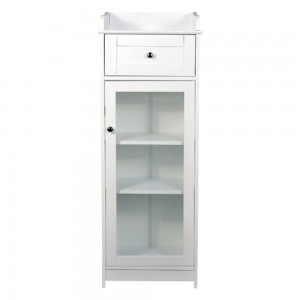 Alaska White Glass Cabinet