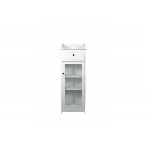 Alaska White Glass Cabinet