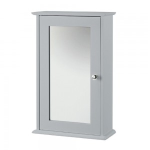 Alaska Grey Wall Mirrored Cabinet