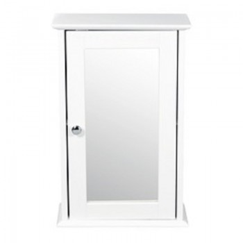 Alaska White Wall Mirrored Cabinet