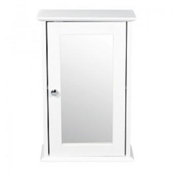 Alaska White Wall Mirrored Cabinet