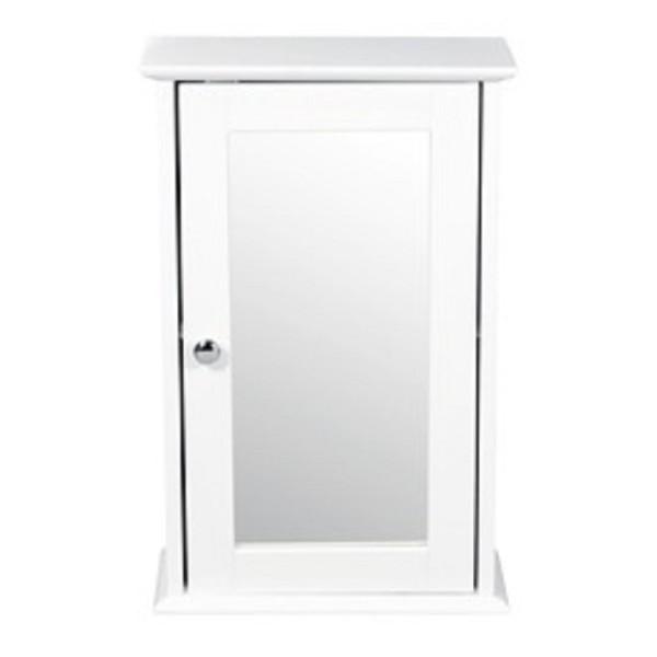 Alaska Wall Mirrored Cabinet (White)