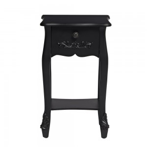 Antoinette Black Bedside Table [Assembled]