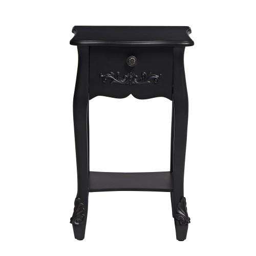 Antoinette Black Bedside Table [Assembled]