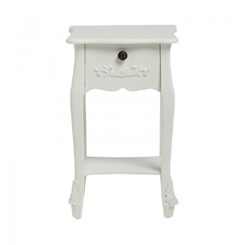Antoinette White Bedside Table [Assembled]