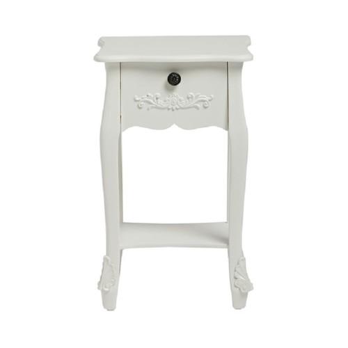 Antoinette White Bedside Table [Assembled]