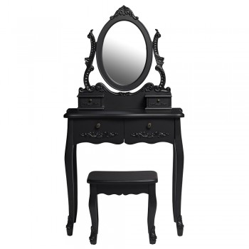 Antoinette Black Dresser Set [Assembled]