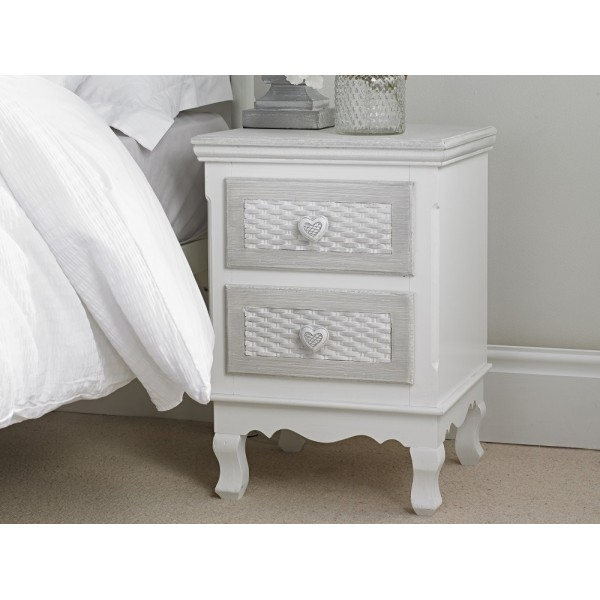 Brittany 2 Drawer Bedside [Assembled]