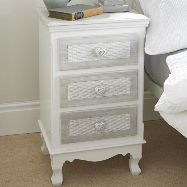Brittany 3 Drawer Bedside [Assembled]
