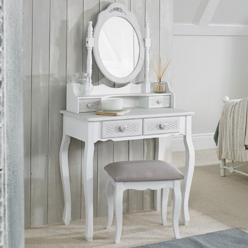 Brittany Dressing Table Stool [Assembled]