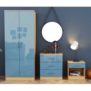 Dakota Blue Bedroom Set