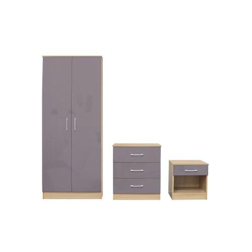 Dakota Taupe-Grey Bedroom Set